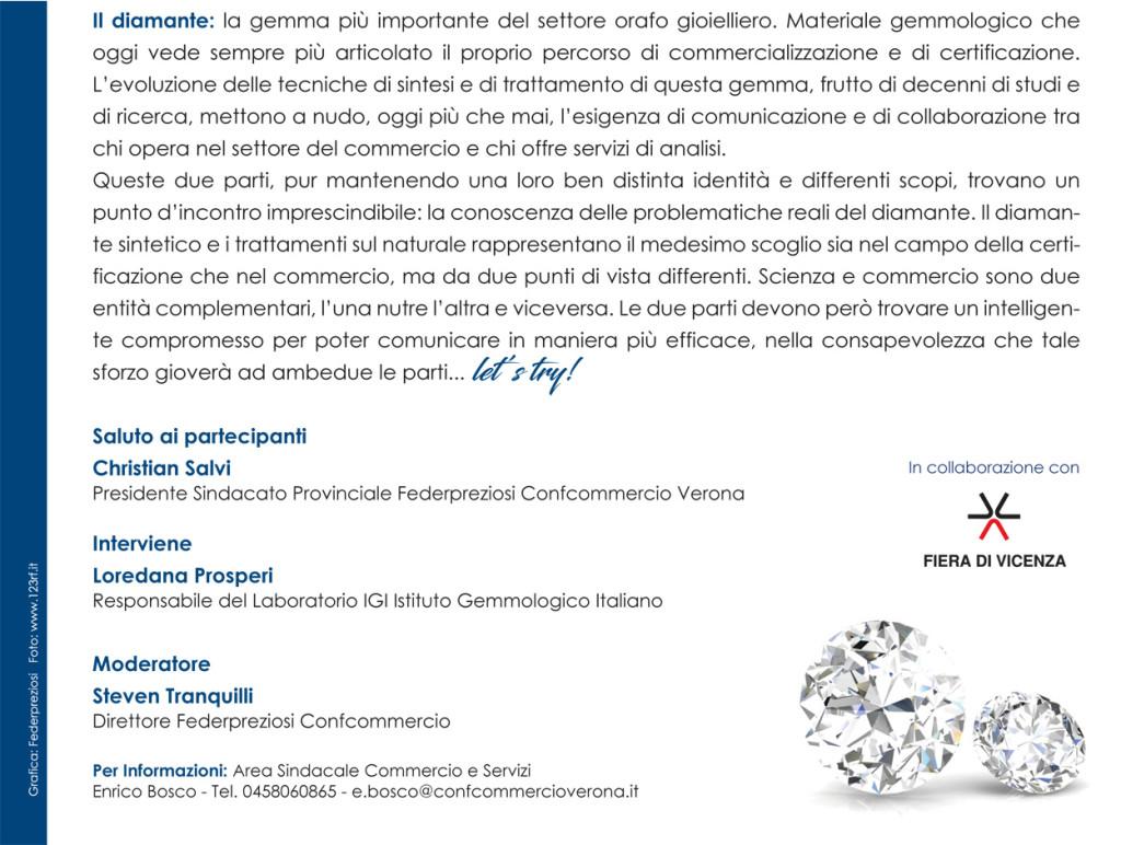 Verona il diamante scienza e commercio federpreziosi - Bozza compromesso ...
