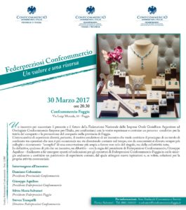 FOGGIA - FEDERPREZIOSI CONFCOMMERCIO - UN VALORE E UNA RISORSA @ Confcommercio Foggia | Puglia | Italia