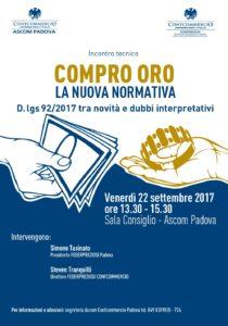 PADOVA | COMPRO ORO la nuova normativa @ Ascom Padova - Sala Consiglio | Padova | Veneto | Italia
