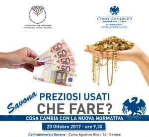 SAVONA | PREZIOSI USATI CHE FARE? COSA CAMBIA CON LA NUOVA NORMATIVA? @ Confcommercio Savona | Savona | Liguria | Italia