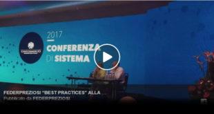 """FEDERPREZIOSI """"BEST PRACTICES"""" ALLA CONFERENZA DI SISTEMA CONFCOMMERCIO 2017"""