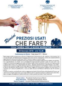 RIMINI | PREZIOSI USATI CHE FARE? @ Confcommercio Rimini  | Rimini | Emilia-Romagna | Italia