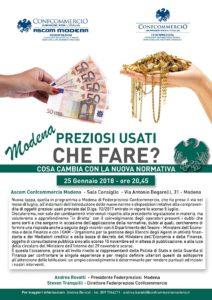 MODENA | Preziosi Usati che fare? @ Ascom Confcommercio Modena - Sala Consiglio | Modena | Emilia-Romagna | Italia