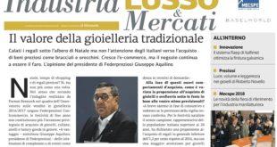 COME STA LA GIOIELLERIA ITALIANA? NE PARLA IL PRESIDENTE GIUSEPPE AQUILINO SU  IL GIORNALE – OSSERVATORIO DEL LUSSO DI GENNAIO 2018
