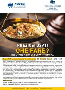 FERRARA   PREZIOSI USATI: CHE FARE? @ Ascom Confcommercio Ferrara   Ferrara   Emilia-Romagna   Italia