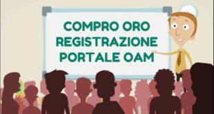 OPERATIVO REGISTRO COMPRO ORO A PARTIRE DAL 3 SETTEMBRE 2018