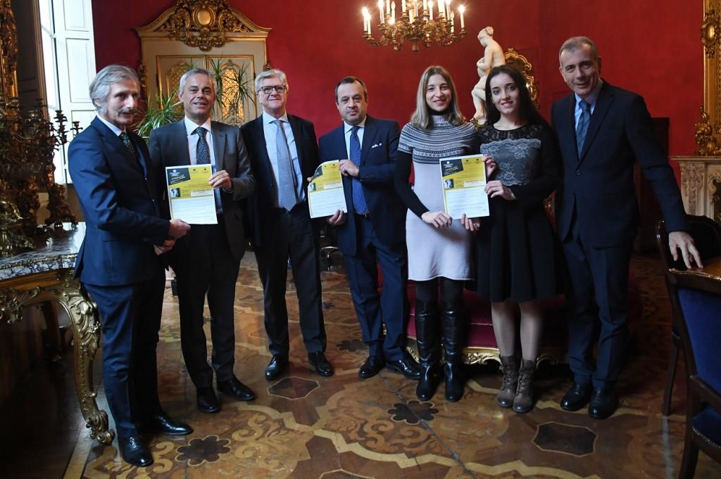 Da sinistra: Paolo Ponzi, Giancarlo Tonelli, Francesco Palermo, Pier Luigi Sforza, Ilaria Setti, Valentina Sommavigo, Steven Tranquilli