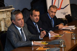 Da sinistra: Giancarlo Tonelli, Pier Luigi Sforza, Steven Tranquilli