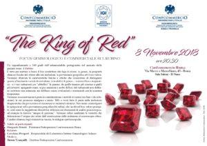 ROMA | THE KING OF RED @ Confcommercio Roma e provincia - Sala Salemi – II piano | Roma | Lazio | Italia