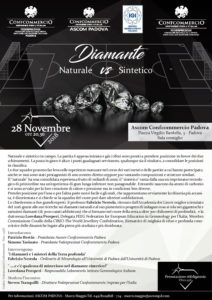 PADOVA | Diamante NATURALE vs Diamante SINTETICO @ Ascom Confcommercio Padova - Sala Consiglio | Padova | Veneto | Italia