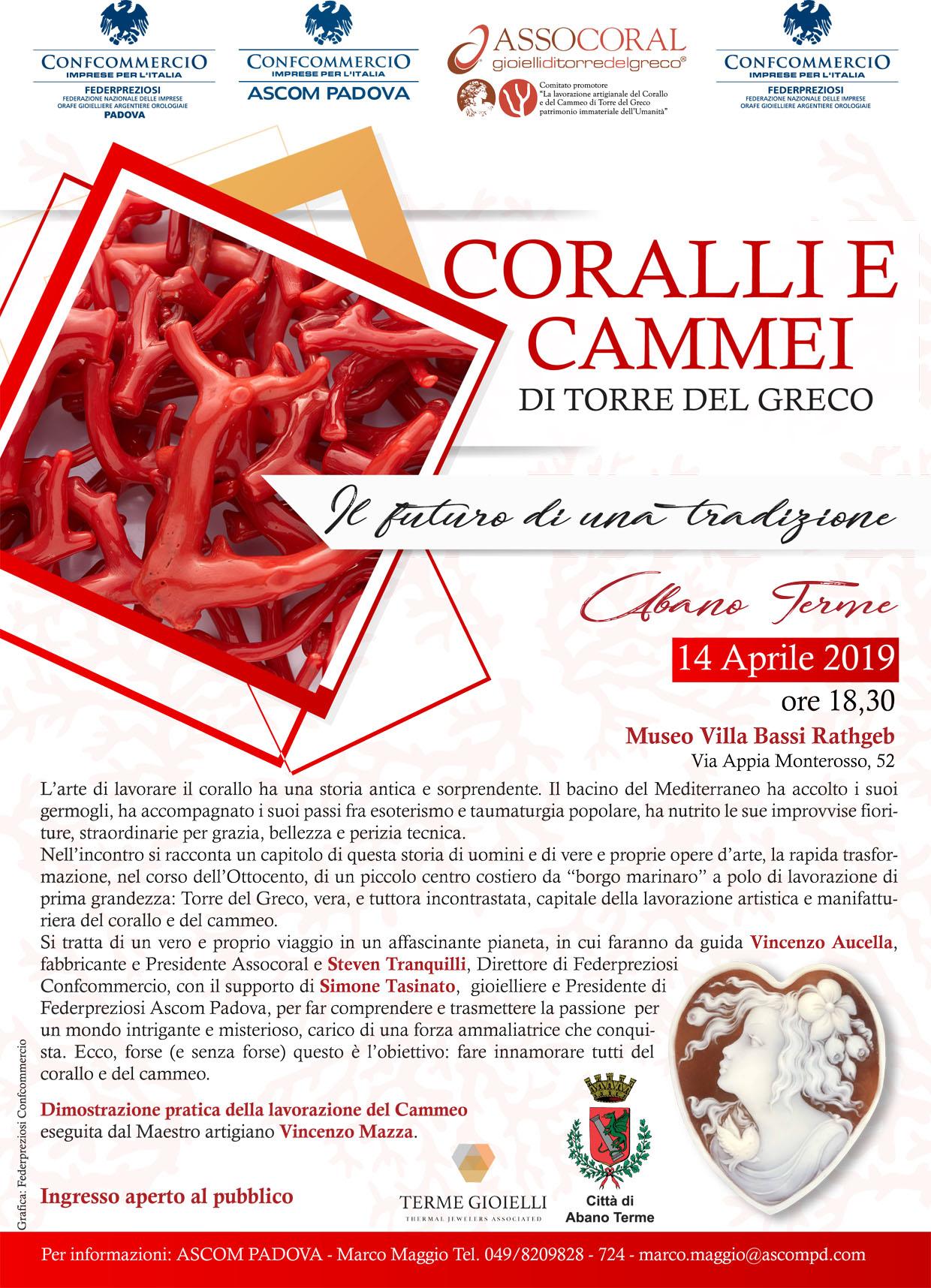 Calendario Manifestazioni Abano Terme.Abano Terme Coralli E Cammei Di Torre Del Greco