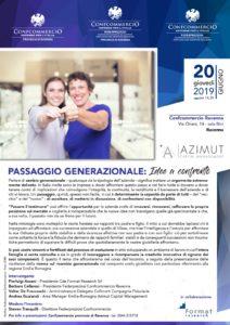 RAVENNA | PASSAGGIO GENERAZIONALE: Idee a confronto @ Cofcommercio Ravenna - Sala Bini | Ravenna | Emilia-Romagna | Italia