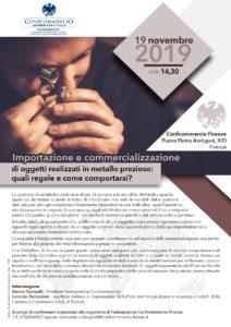 FIRENZE | IMPORTAZIONE E COMMERCIALIZZAZIONE DI OGGETTI REALIZZATI IN METALLO PREZIOSO: QUALI REGOLE E COME COMPORTARSI? @ Confcommercio Firenze | Firenze | Toscana | Italia