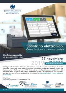 BARI | SCONTRINO ELETTRONICO. COME FUNZIONA E CHE COSA CAMBIA @ Confcommercio Bari | Bari | Puglia | Italia